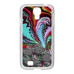 Special Fractal 02 Red Samsung Galaxy S4 I9500/ I9505 Case (white)