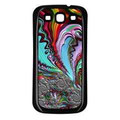 Special Fractal 02 Red Samsung Galaxy S3 Back Case (black)