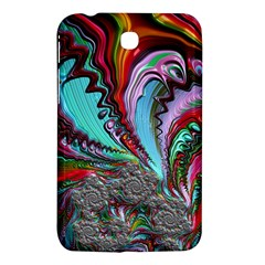 Special Fractal 02 Red Samsung Galaxy Tab 3 (7 ) P3200 Hardshell Case