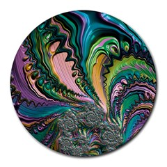 Special Fractal 02 Purple 8  Mouse Pad (Round)
