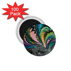 Special Fractal 02 Purple 1 75  Button Magnet (100 Pack)