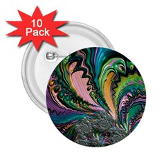 Special Fractal 02 Purple 2.25  Button (10 pack)