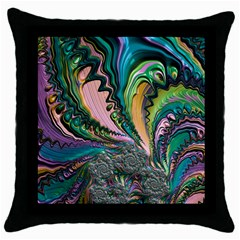 Special Fractal 02 Purple Black Throw Pillow Case