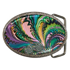 Special Fractal 02 Purple Belt Buckle (oval)