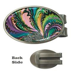 Special Fractal 02 Purple Money Clip (Oval)