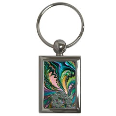 Special Fractal 02 Purple Key Chain (Rectangle)