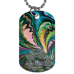 Special Fractal 02 Purple Dog Tag (One Sided)