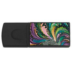 Special Fractal 02 Purple 2GB USB Flash Drive (Rectangle)