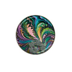 Special Fractal 02 Purple Golf Ball Marker 4 Pack (for Hat Clip)