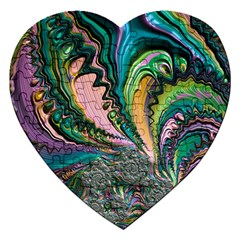 Special Fractal 02 Purple Jigsaw Puzzle (Heart)