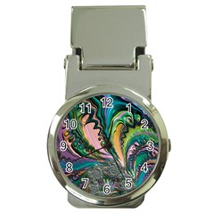 Special Fractal 02 Purple Money Clip with Watch