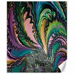 Special Fractal 02 Purple Canvas 8  x 10  (Unframed)