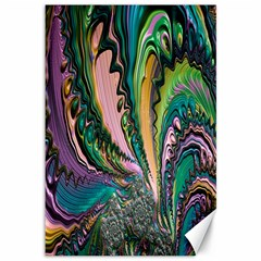 Special Fractal 02 Purple Canvas 12  x 18  (Unframed)