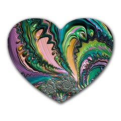 Special Fractal 02 Purple Mouse Pad (heart)
