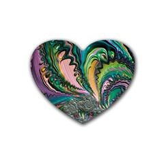 Special Fractal 02 Purple Drink Coasters 4 Pack (Heart)