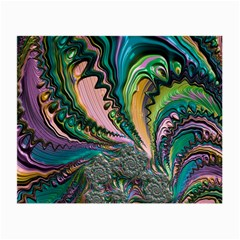 Special Fractal 02 Purple Glasses Cloth (Small, Two Sided)