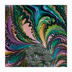 Special Fractal 02 Purple Glasses Cloth (medium, Two Sided)