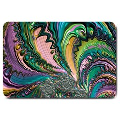Special Fractal 02 Purple Large Door Mat