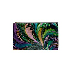 Special Fractal 02 Purple Cosmetic Bag (Small)