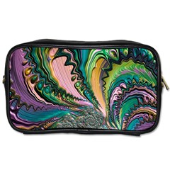 Special Fractal 02 Purple Travel Toiletry Bag (two Sides)