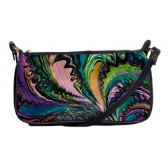 Special Fractal 02 Purple Evening Bag