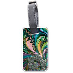 Special Fractal 02 Purple Luggage Tag (Two Sides)