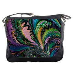 Special Fractal 02 Purple Messenger Bag