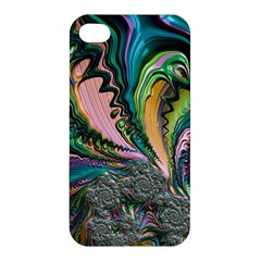 Special Fractal 02 Purple Apple Iphone 4/4s Premium Hardshell Case