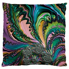 Special Fractal 02 Purple Large Cushion Case (two Sided)