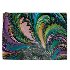 Special Fractal 02 Purple Cosmetic Bag (XXL)
