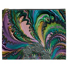 Special Fractal 02 Purple Cosmetic Bag (XXXL)