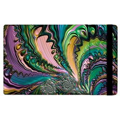 Special Fractal 02 Purple Apple iPad 3/4 Flip Case