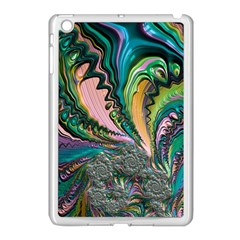 Special Fractal 02 Purple Apple Ipad Mini Case (white)