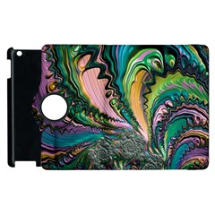Special Fractal 02 Purple Apple iPad 2 Flip 360 Case