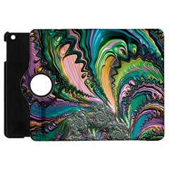 Special Fractal 02 Purple Apple Ipad Mini Flip 360 Case