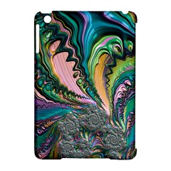 Special Fractal 02 Purple Apple iPad Mini Hardshell Case (Compatible with Smart Cover)