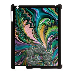Special Fractal 02 Purple Apple iPad 3/4 Case (Black)