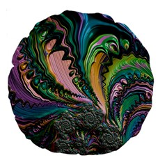 Special Fractal 02 Purple 18  Premium Round Cushion