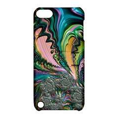 Special Fractal 02 Purple Apple iPod Touch 5 Hardshell Case with Stand