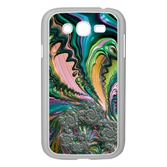 Special Fractal 02 Purple Samsung Galaxy Grand DUOS I9082 Case (White)