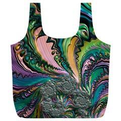 Special Fractal 02 Purple Reusable Bag (XL)