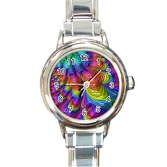 Radiant Sunday Neon Round Italian Charm Watch