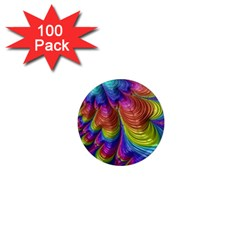 Radiant Sunday Neon 1  Mini Button Magnet (100 pack)