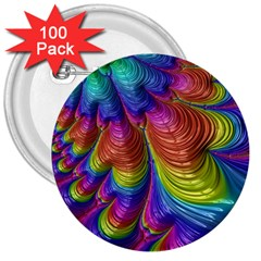 Radiant Sunday Neon 3  Button (100 Pack)