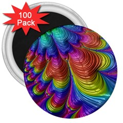 Radiant Sunday Neon 3  Button Magnet (100 pack)