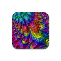 Radiant Sunday Neon Drink Coaster (Square)