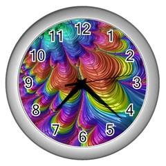 Radiant Sunday Neon Wall Clock (silver)