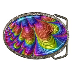 Radiant Sunday Neon Belt Buckle (oval)