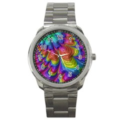 Radiant Sunday Neon Sport Metal Watch