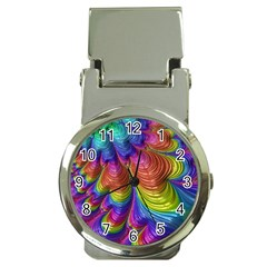 Radiant Sunday Neon Money Clip with Watch